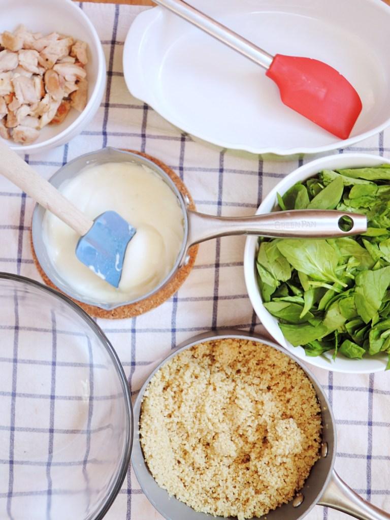 quinoa cake ingredients