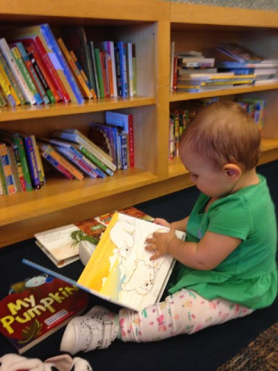 library with kids
