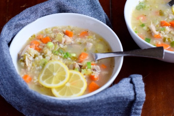 Lemon Chicken and Barley Soup