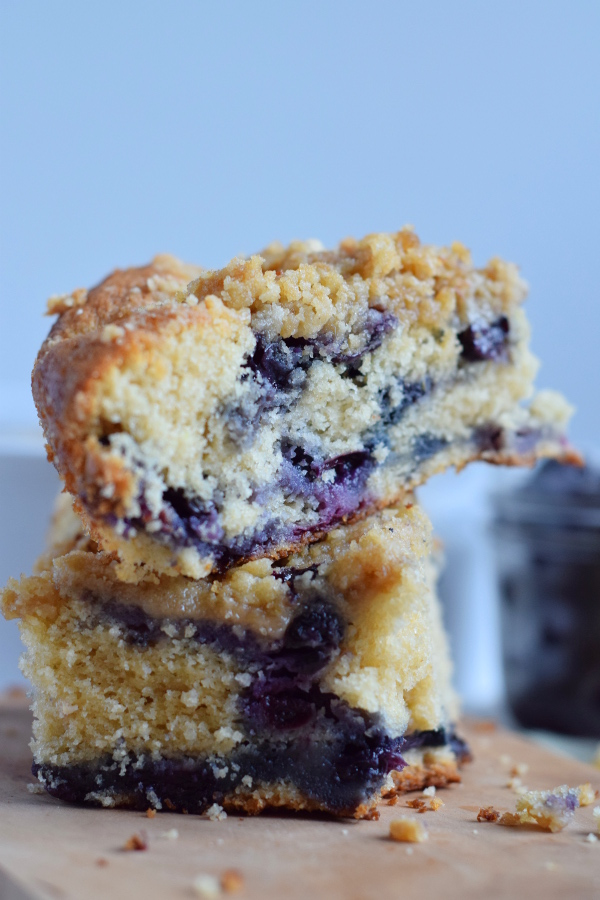 wholesome blueberry coffee cake #healthy #easy