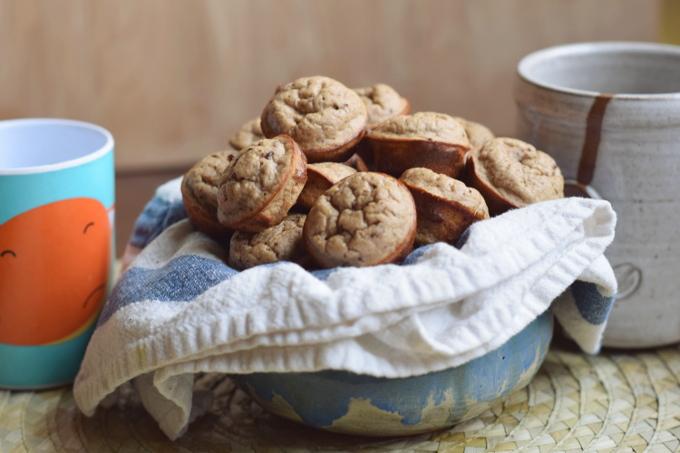 Flourless Banana Blender Mini Muffins #glutenfree