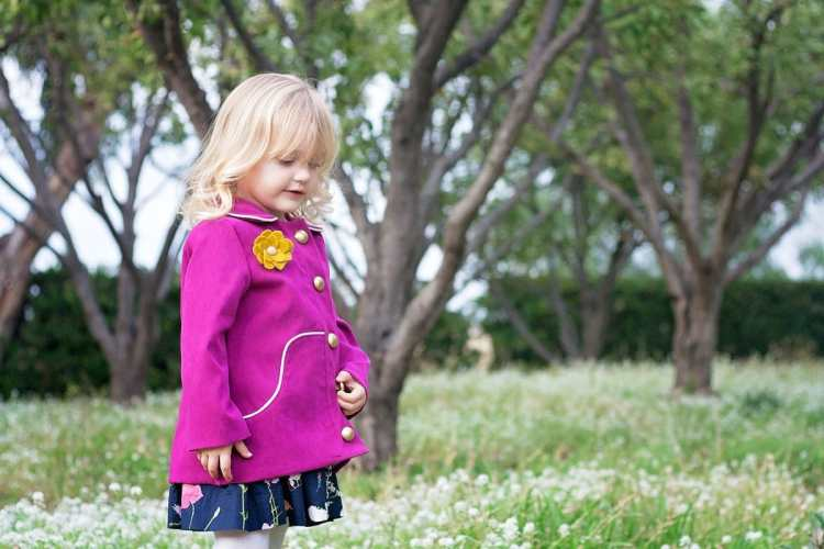 Louisa Girls Coat Compagnie M. PDF Pattern