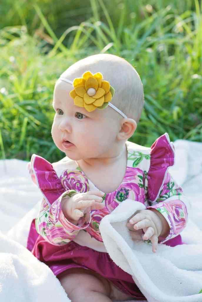Simple Life Pattern Company PDF Sewing Pattern Baby Size Isla Knit Dress