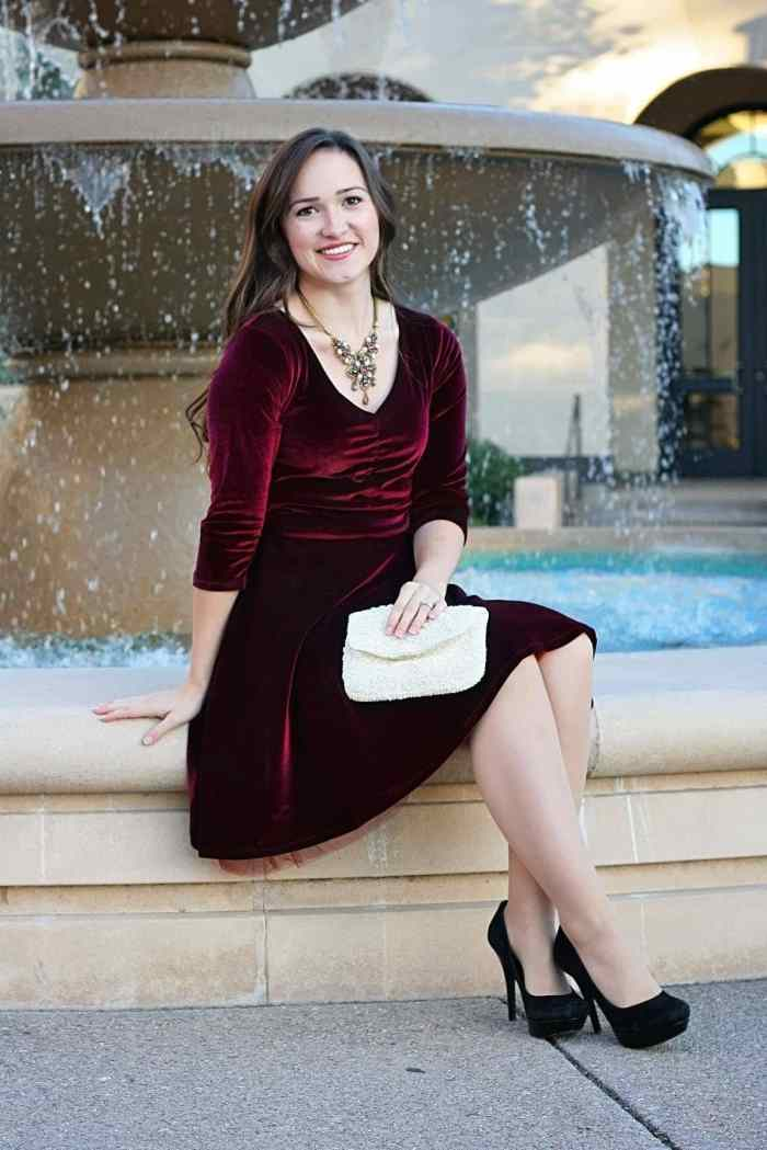 Itch to Stitch Davina Dress PDF Sewing Pattern Velvet Fabric Style Maker Fabrics