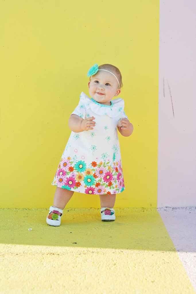 Sew Pony Juliette Dress Doodle Daisy Michael Miller Fabrics Sweet Red Poppy
