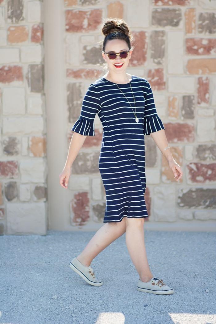 Alina Sewing + Design Co Panama Tee Dress Stylish Fabrics Heat N Bond Pattern