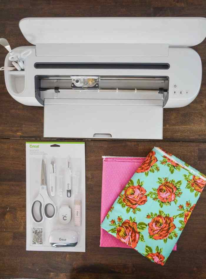 The Cricut Maker cutting machine and sewing kit