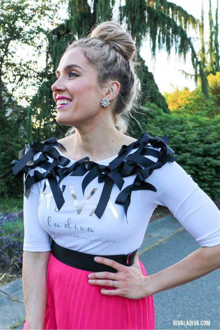 Dolce and Gabanna Inspired shirt tutorial HTV Iron-On Riva La Diva