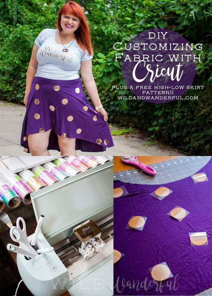 Wild and Wonderful Free Skirt Pattern Cricut HTV