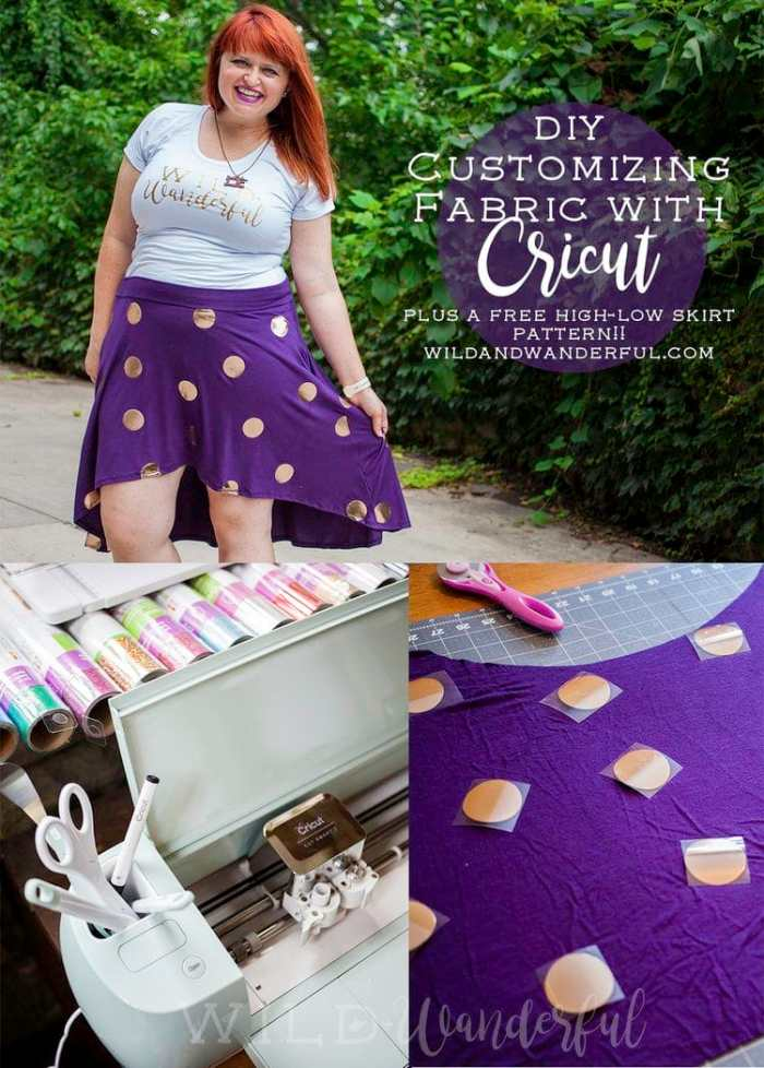 Wild and Wonderful Free Skirt Pattern Cricut HTV