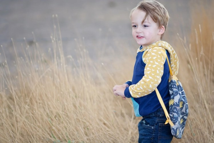 Free Hoodie Sewing Pattern and Drawstring Bag Tutorial Riley Blake Fabrics Fossil Rim