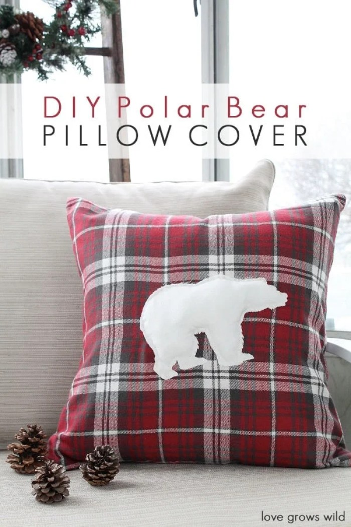Love Grows Wild DIY Polar Bear Pillow Cover