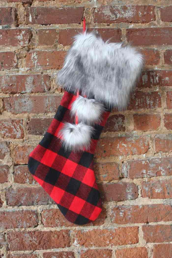 Fabric.com Christmas Flannel and Fur Stocking Sewing Tutorial