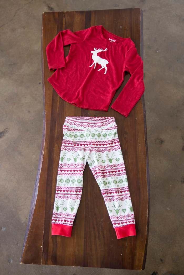 DIY Christmas Pajamas with FREE PDF sewing pattern and cut file