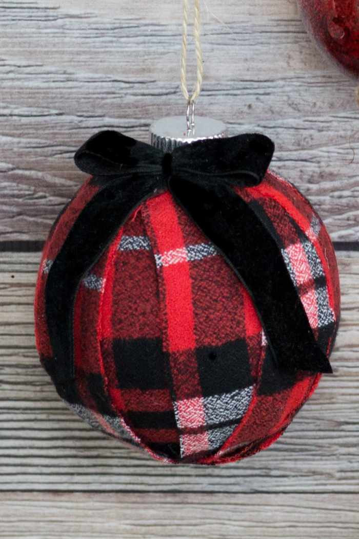 Fabric Covered Christmas sOrnament DIY Tutorial