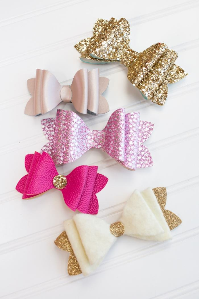 Stacked French Hair Bow Tutorial Sweet Red Poppy