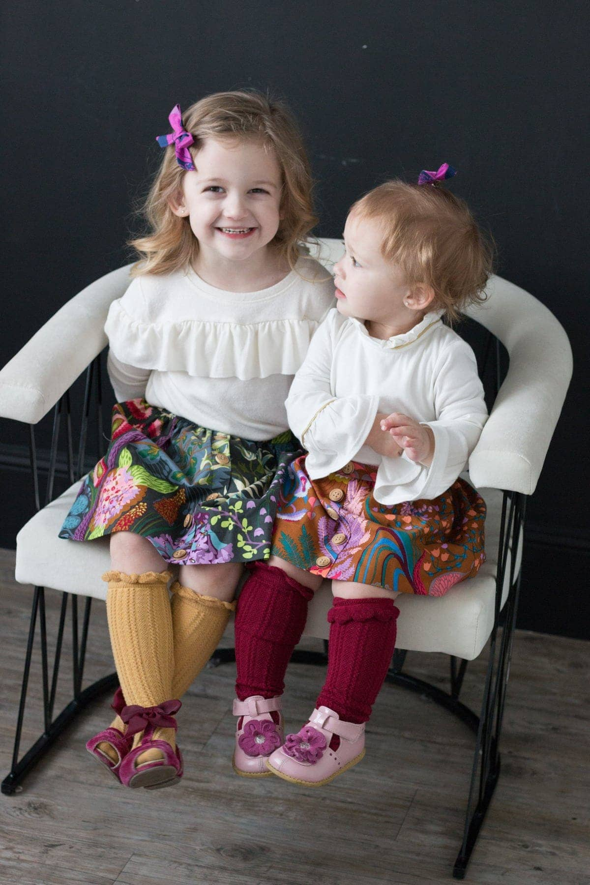 Tutorial: Little girls flat front skirt with a faux button placket