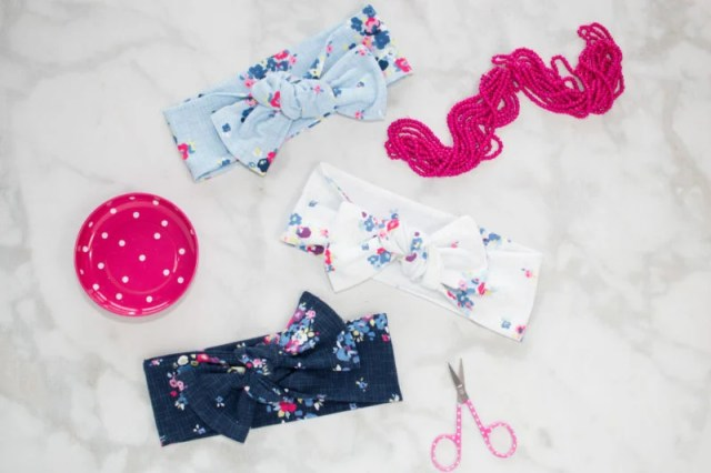 Top Knot Bow Head Wrap Sewing Tutorial