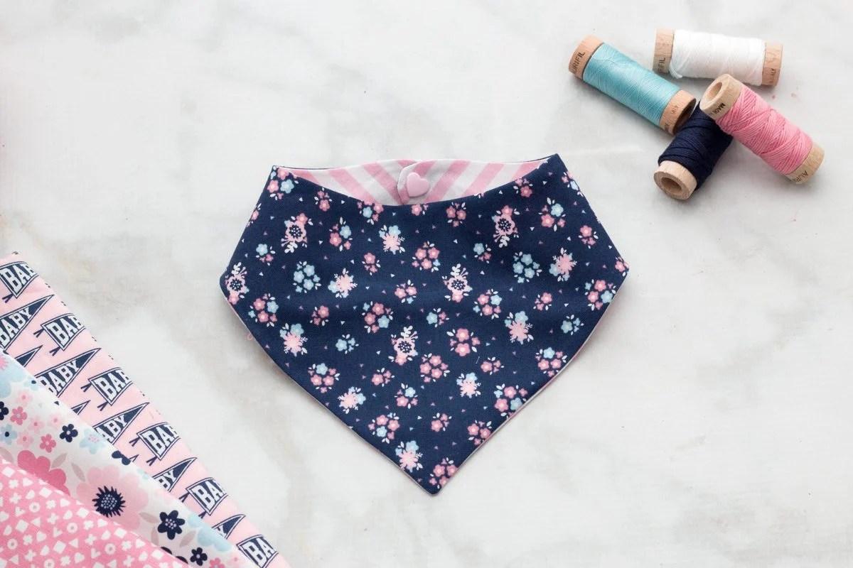 photo regarding Baby Bib Pattern Printable known as Totally free Bandana Bib Sewing Habit Hi Kid - Adorable Purple Poppy