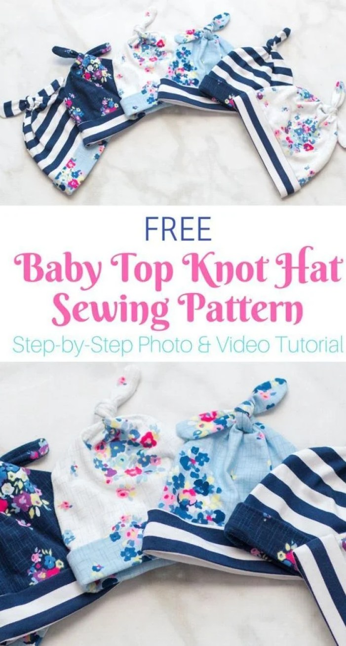 Free Baby Hat Sewing Pattern and Tutorial