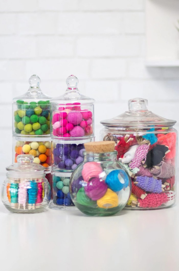 Craft Corner Organization jars