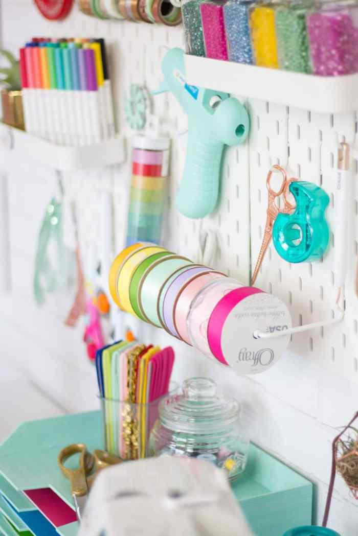 Craft Room Organization Pegboard