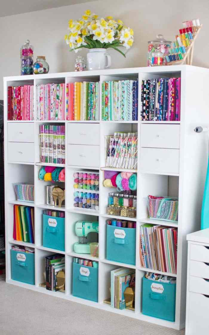 How to organize your fabric and sewing room
