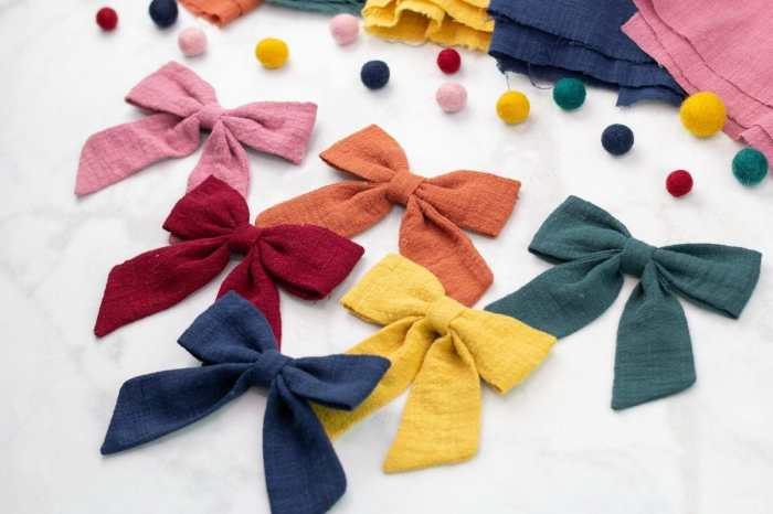 Sailor Bow Hair Bow Sewing Tutorial and Free PDF Pattern