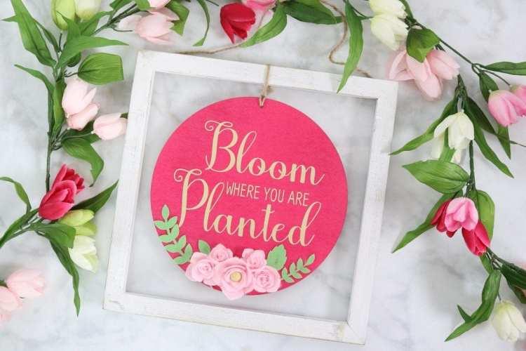 Cricut Wild Rose Vinyl Sign Tutorial | JOANN - Sweet Red Poppy