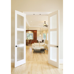 Slimfold Alterra Collection Solid Wood Frosted Glass