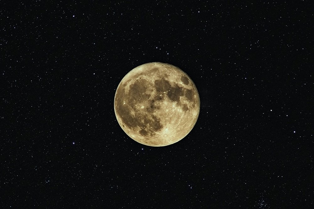 The Moon And Some Stars