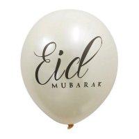 Eid Mubarak Metallic Cream Balloons