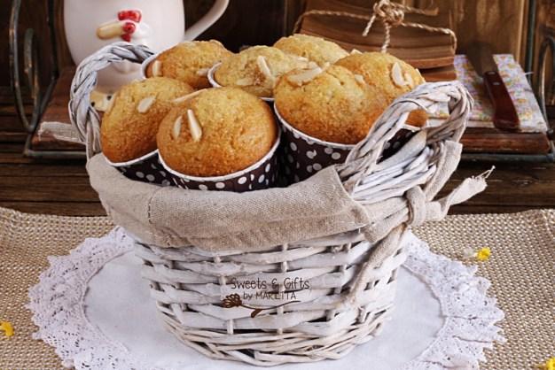 Magdalenas limón y almendras, magdalenas, recetas de magdalenas thermomix, limón, consejos de magdalenas, sweets and gifts by Marietta