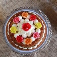 Pastel de boniato y pistachos