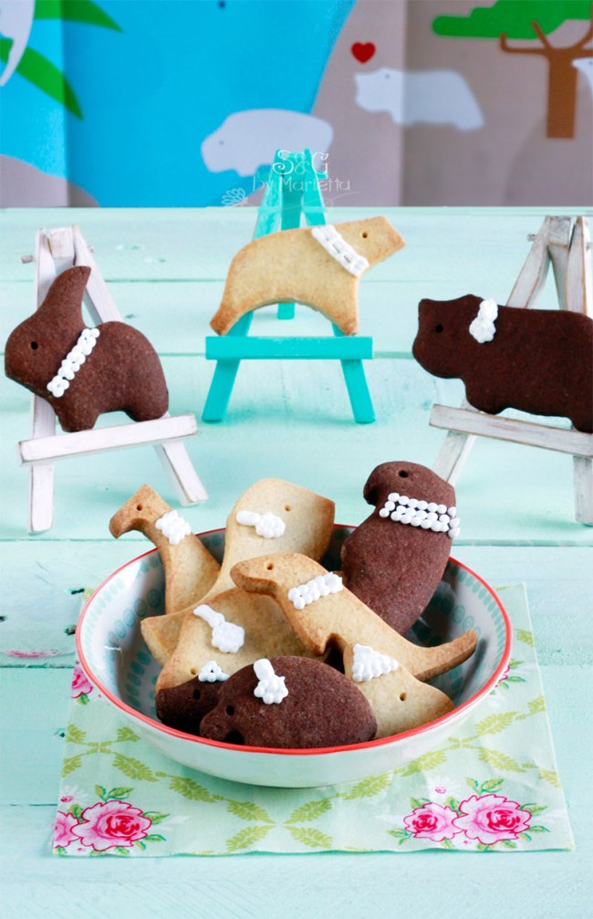 cookies puzzle animals Lekúe, Lekúe, galletas caseras, galletas animales, galletas de mantequilla, receta galletas Postreadicción, Sweets and Gifts Marietta, recetas de galletas caseras, galletas chocolate, galletas animales, bloguera murciana