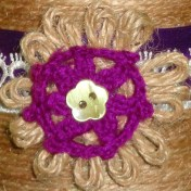 handmade lace and twine flower pot - detail3