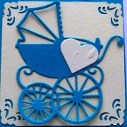 New baby boy card - detail