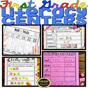 First grade literacy centers