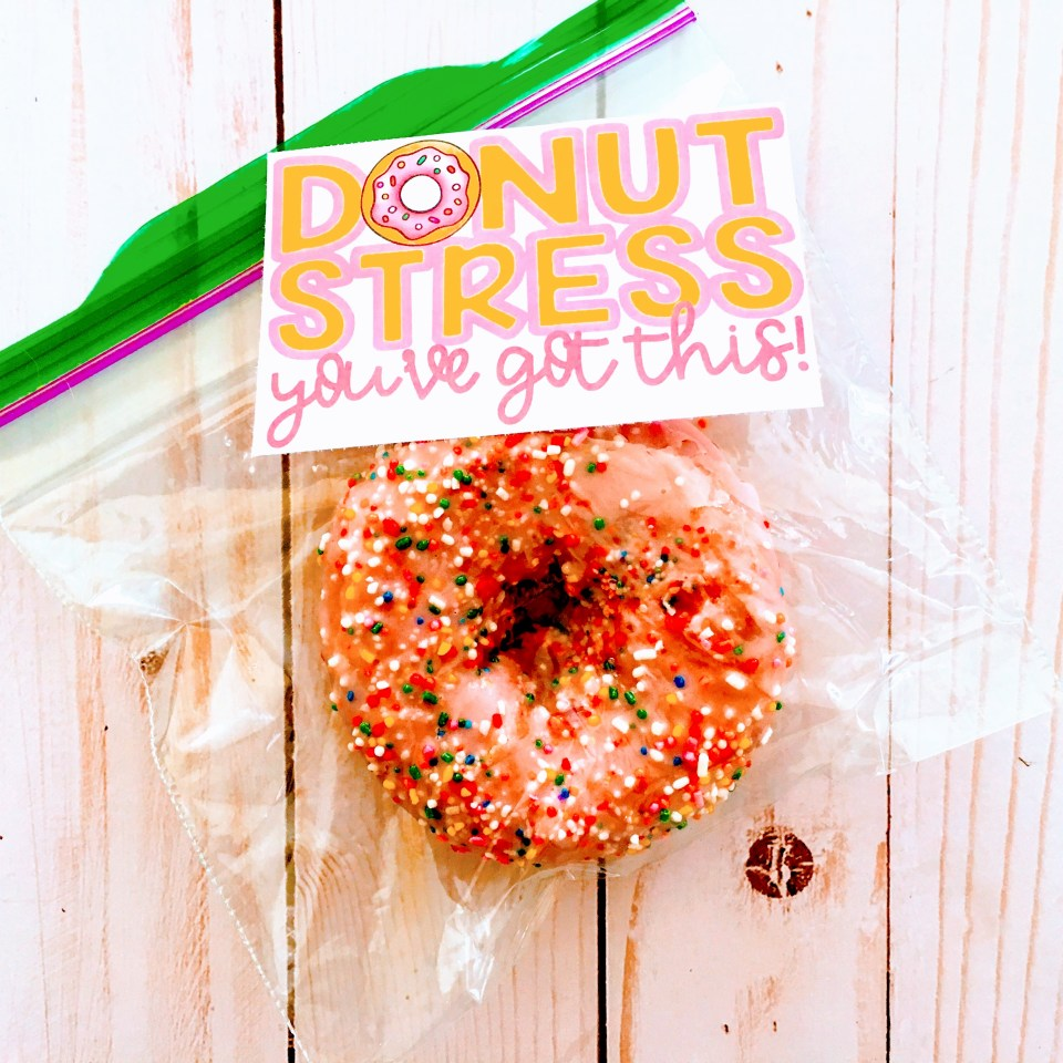 Donut stress free tags