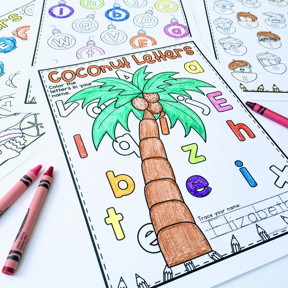 Name recognition and name practice editable personalized worksheets.  Chicka chicka boom boom letter recognition in names!