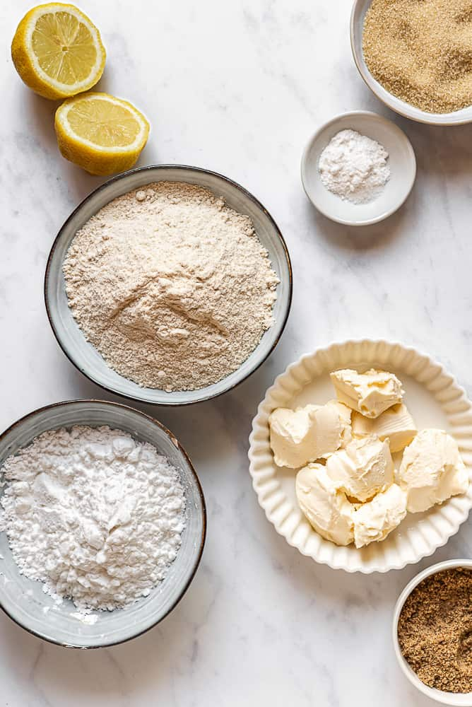 Gluten free vegan tart dough ingredients