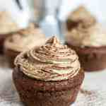 Gluten free cocoa coffee cupcakes vegan cream frosting