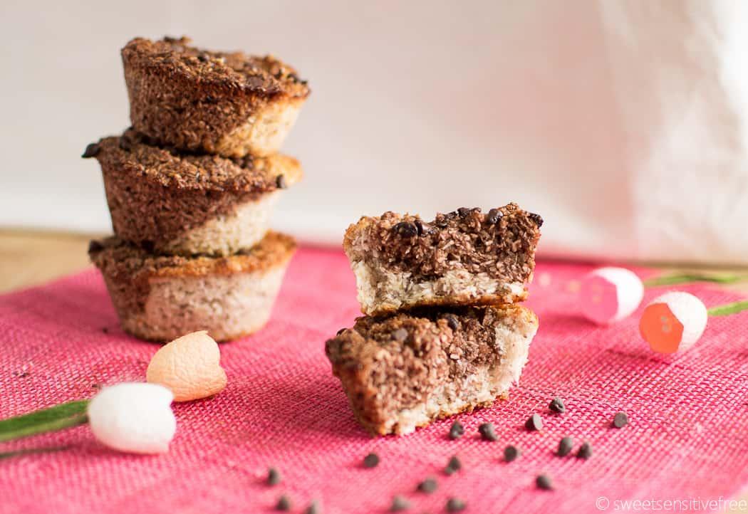 Gluten free vegan chocolate coconut cakes