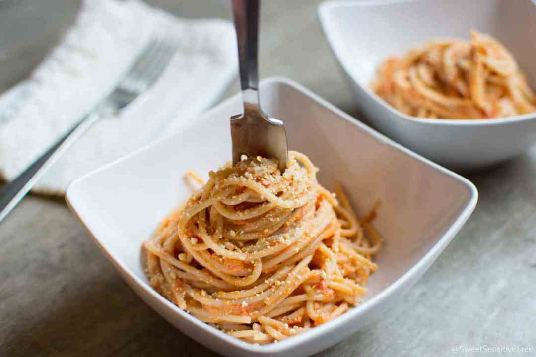 Dairy free Creamy Sauce Spaghett
