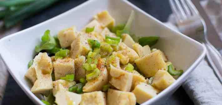Panissa - Chickpea tofu cubes salad