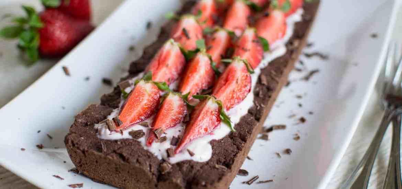 Gluten free vegan strawberry chocolate tart - Crostata cioccolato senza glutine vegan
