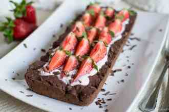 Gluten free vegan strawberry chocolate tart - Crostata cioccolato senza glutine vegan