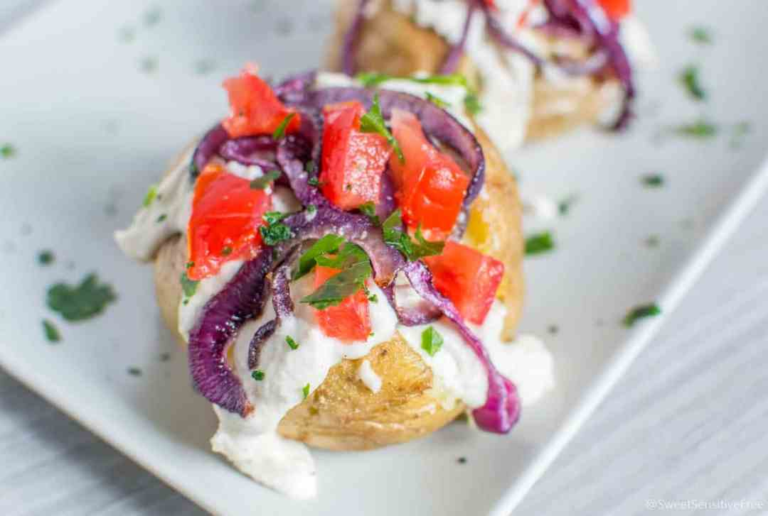 Ricetta patate croccanti ripiene al forno senza glutine latticini uova veloci cena ultimo minuto