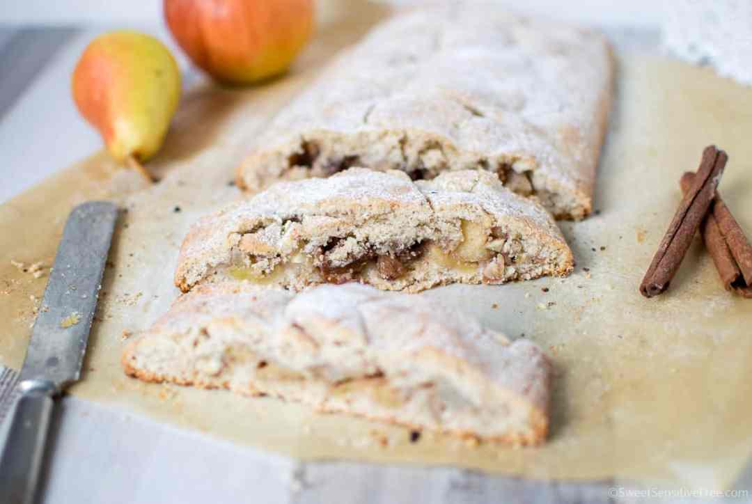 Strudel di mele morbido con pasta frolla senza glutine lattosio latticini uova facile veloce