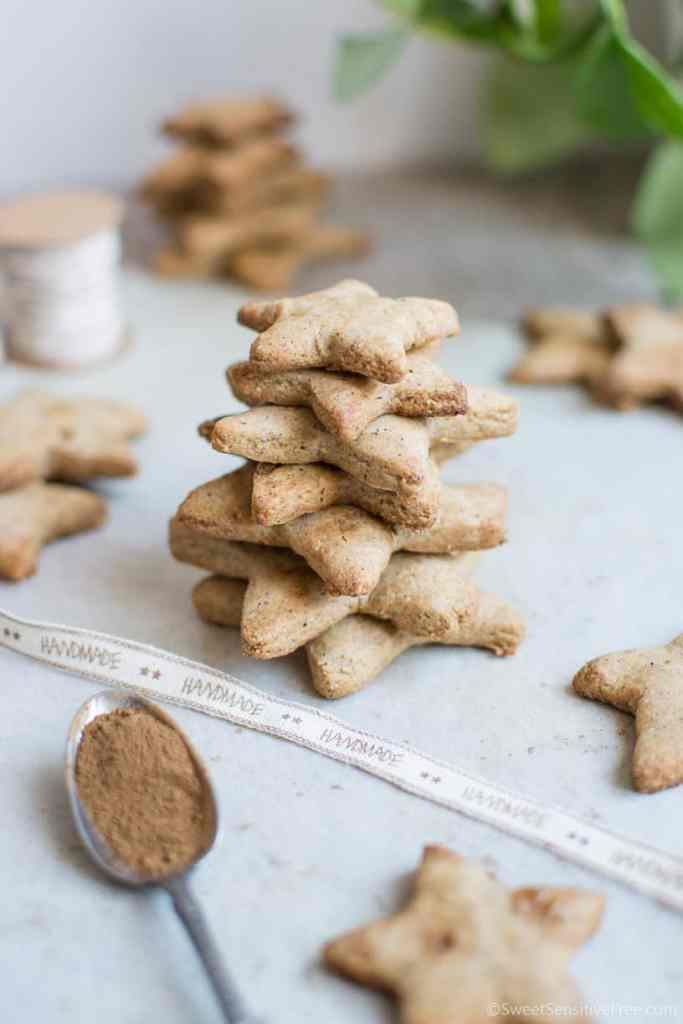 Gibgerbread cookies that are easy to make, gluten free, dairy free, egg free, vegan , Christmas gift idea